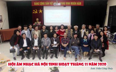 Chùm ảnh: Hội Âm nhạc Hà Nội sinh hoạt tháng 11/2020