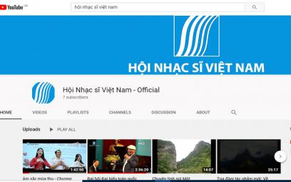 YOUTUBE cho Hội Nhạc sĩ Việt Nam