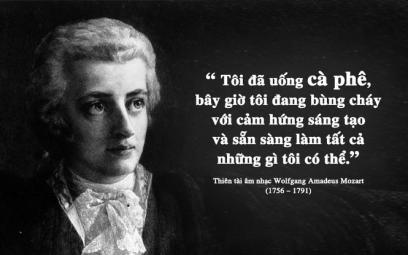 Wolfgang Amadeus Mozart và tình yêu cà phê của một thiên tài âm nhạc