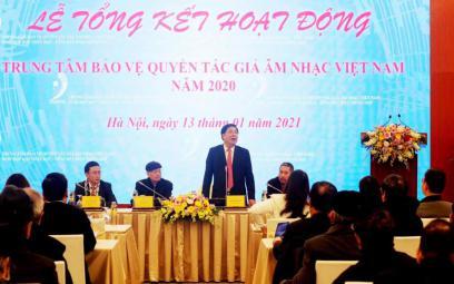 Hội nghị tổng kết công tác năm 2020Trung tâm Bảo vệ Quyền tác giả Âm nhạc Việt Nam