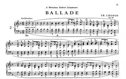 Về bốn bản ballade của Frédéric Chopin