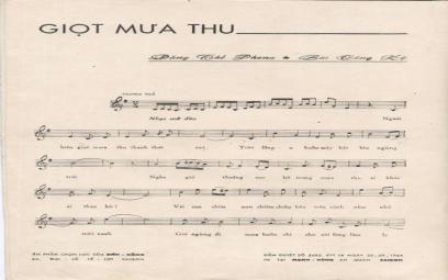 """""""Giọt mưa thu"""" là nhạc phẩm cuối cùng của cố nhạc sĩ Đặng Thế Phong"""