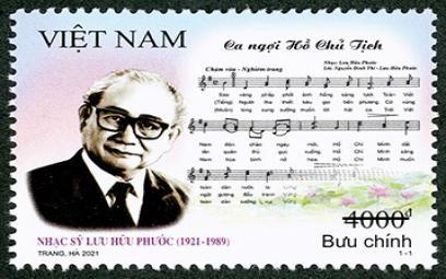 """Ra mắt bộ tem """"Kỷ niệm 100 năm ngày sinh nhạc sỹ Lưu Hữu Phước"""""""
