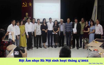 Hội Âm nhạc Hà Nội: Chùm ảnh giới thiệu tác phẩm mới 4/2021